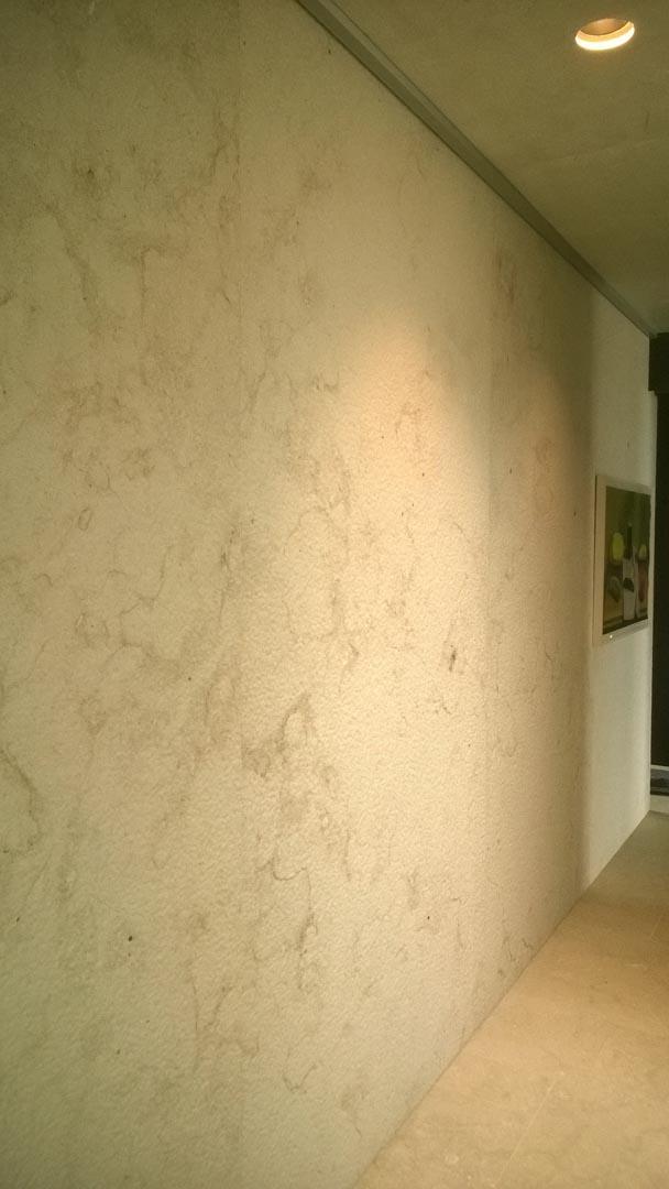 Casa Islandese parete cucina interamente rivestita in Marmo Grolla