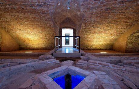 Pavimentazioni di Villa Caldogno in Marmo Grolla e Marmo Grigio Olivo